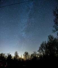 Milkyway over NJ (marcporgy) Tags: new trees sky nature night stars landscape sony astrophotography jersey astronomy milkyway rx100