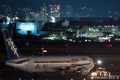 Itami Airport at night 2016.1.31 (12) JA604A / ANA's STAR WARS JET (B767-300) (double-h) Tags: airplane ana starwars observationdeck itamiairport  itm b767  osakaairport b767300    rjoo  specialpainting ja604a   ef300mmf28lisiiusm  lasora eos7dmarkii