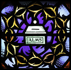 Lent (Lawrence OP) Tags: purple cathedral violet stainedglass baltimore alms lent crownofthorns penance