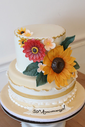 Autumn Sunflower Cake