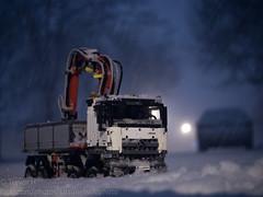 Blowing Snow 2 (Kenjis9965) Tags: leica macro truck mercedes benz lego crane technics panasonic technic micro mercedesbenz f28 45mm 43 elmarit gx8 fourthirds macroelmarit panaleica arocs panasonic45mmf28