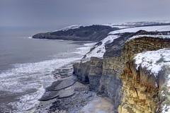 Coast in snow (pauldunn52) Tags: snow seascape heritage beach wales point coast sand cliffs glamorgan witches