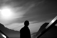 Lago di Lugano (SinoLaZZeR) Tags: life street people blackandwhite bw lake schweiz switzerland tessin blackwhite ticino fuji candid streetphotography streetlife finepix fujifilm schwarzweiss lugano  northeastern     x100