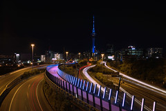 Auckland 2016 IMG_6343.CR2 (Daniel Hischer) Tags: newzealand nightlights auckland skytower nightcrawlers cartrail traffictrail
