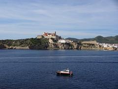 Ibiza by sea (RCWH) Tags: city travel sea ferry spain october sony transport ibiza balearics wx220