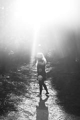 (nic lawrance) Tags: trees light people sun nature girl dark woodlands shadows shine bright path walk cotswolds gloucestershire corona figure
