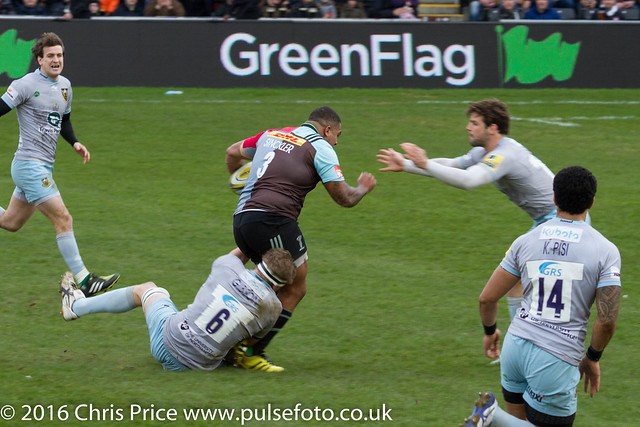 Quins 23 Northamspton 27 Aviva Premiership 6th Feb 2016