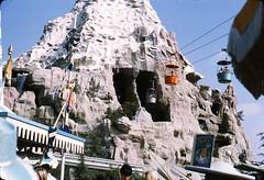 Matterhorn, November 1964 (Tom Simpson) Tags: vintage disneyland disney matterhorn 1960s 1964 fantasyland skyway vintagedisneyland vintagedisney