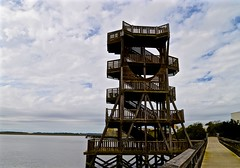 Observation Tower - Explore #200 - 2-20-2016 - Port Royal SC (Meridith112) Tags: november autumn sky cloud tower fall sc clouds stairs river nikon ramp stair steps southcarolina bluesky structure explore step walkway boardwalk sandybeach boatlaunch estuaries observationtower lowcountry carolinas portroyal 2015 sandsbeach beaufortcounty explored beaufortriver nikon2485 batterycreek nikond610 explore2202016
