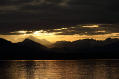 Sunset (titteufff) Tags: winter sunset mountain lake nature clouds canon landscape long exposure outdoor canon5d