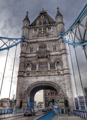 Tower Bridge (Belinda Fewings (3 million views. Thank You)) Tags: street old city blue colour building london tourism beautiful beauty architecture towerbridge out outside outdoors seaside december arty artistic bokeh pavement creative streetscene lookup sidewalk colourful lovely the beautify panasoniclumixdmc pbwa creativeartphotograhy belindafewings