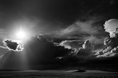 A campo abierto (una cierta mirada) Tags: sunset sky blackandwhite sun storm nature landscape stormy bnw cloudscape