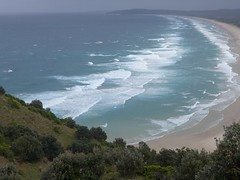 Tallow Beach from Cape Byron (tanetahi) Tags: panorama beach landscape coast rainforest view nsw newsouthwales seashore byronbay headland littoral capebyron northernriversregion