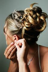 wedding (Chu Vit c) Tags: wedding woman female hair bride hands curls nails crown earing portriat neckless pearcing tiarra