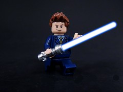 10th Time Jedi (MrKjito) Tags: light star lego time who sonic lord doctor saber jedi wars minifig screwdriver crossover