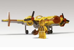 E-41 Skyclipper (JonHall18) Tags: world plane airplane war fighter lego aircraft fantasy pilot moc skyfi dieselpunk