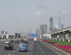 Traffic in Dubai (katrinchen59) Tags: town dubai traffic down khalifa burj