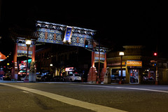 Victoria Chinatown (Stuart MacNeil) Tags: nightphotography canada night landscape chinatown cityscape fuji bc victoria nighttime intersection yyz strret yyj streetphotgraphy x100t