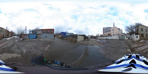Cherkizovo - Elektrozavod railway in 360 panorama