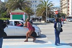 Dijeljenje letaka za referendum, Pescara