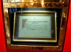 Aus877 - Queen Elizabeth II Letter, Queen Victoria Building (Donna's View) Tags: nikon sydney australia letter queenvictoriabuilding d60