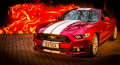 American muscle 1 (David In The Forest) Tags: new light lightpainting ford night canon reflections flames pony fordmustang musclecar
