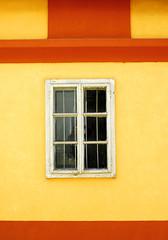 Sighisoara Windows 19 (PM Kelly) Tags: street travel windows light orange abstract color colour art yellow ventana one 1 romania frame sighisoara