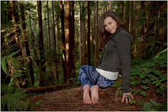 Foot Goddess Alicia (christopherdmisephotography) Tags: trees cute nature girl beautiful smile lady forest pie foot model pretty sweet goddess cutie barefoot barefeet redwoods ferns