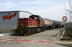 HzL in Ulm-Donautal (fuzzfilipp) Tags: diesel ulm gterzug hzl privatbahn