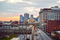 DSC_0170 (IntExp7) Tags: nyc newyorkcity sunset ny newyork cars highway downtown traffic manhattanbridge expressway bqe lowermanhattan brooklynqueensexpressway downtownmanhattan