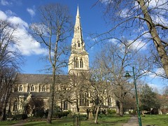 St Giles from the churchyard (Matt From London) Tags: church spire stgiles camberwell georgegilbertscott