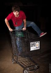 Shopping Cart Hopping with Bryan Black (thedot_ru) Tags: portrait man black male men indoors inside canon5d 2011 bryanblack bryanleonardoblack