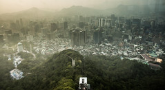 misty city (angeloangelo) Tags: above city travel sky seoul distance nseoultower ntower