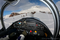 Short final at Alpe d'Huez altiport (gc232) Tags: from winter mountain snow ski plane airplane fly flying live aircraft aviation tail flight cockpit fisheye tokina landing deck land instruments propeller runway pilot pilots alpe dhuez abeille jodel taildragger altiport 10mm ahz tailwheel avgeek 1017mm d140 upslope lfhu golfcharlie232 fbopt