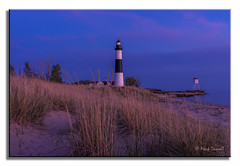 Big Sable Sundown Hue (Mark Darnell) Tags: lighthouse place structure bigsable ludingtonmi