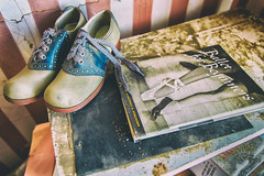 Ballet for Beginners (KPortin) Tags: dusty abandoned book bedroom shoes abandonedhouse lincolncounty