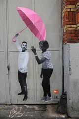Le Mouvement_2997 rue Oberkampf Paris 11 (meuh1246) Tags: streetart paris parapluie paris11 rueoberkampf lemouvement
