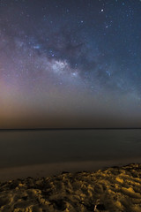 Milky Way ( in explore) (aliffc3) Tags: seascape beach stars nightshot qatar mesaieed milkyway lowlightphotography tamron2470f28 nikond750