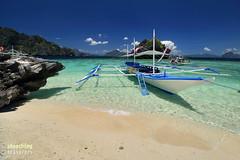 Boat at Shimizu Island (engrjpleo) Tags: sea seascape beach water landscape island coast boat seaside sand outdoor philippines elnido palawan waterscape bacuitbay shimizuisland