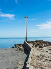 Pier Light Pole (CEBImagery.com) Tags: california light sea urban beach water pier decay pole bombay derelict urbex salton