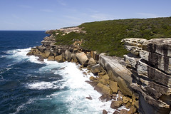 Nothing to Sea (Sam Randles) Tags: cliff coast waves sydney australia coastal newsouthwales southernocean tasmansea bundeena royalnationalpark