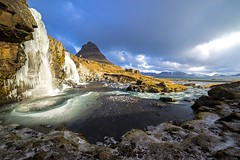 Kikjufellfoss, Iceland (Gabriela Iacobuta) Tags: sun mountain snow cold ice water rain clouds river waterfall iceland spring ngc north peak 5photosaday