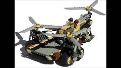 Pegasus Diesel Cargo Helicopter Mk. XXVII (aillery) Tags: horse pull flying back chopper desert lego mesh diesel aircraft pegasus military transport cargo helicopter vehicle motor blade triple carrier copter heli motorized supply rotor adventurers courser nonelectric dieselpunk