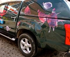 Game Bird Pick-Up (Nanny Bean) Tags: reflections pickup markettown guineafowl pheasants kirbymoorside
