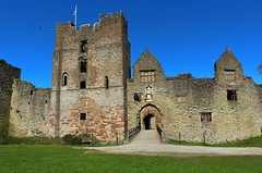 Entrance to the Inner Bailey Ludlow Castle. (Eddie Crutchley) Tags: england sunlight tower castle architecture outside ruins europe shropshire medieval ludlow ludlowcastle gateway keep historicbuilding innerbailey greatphotographrers