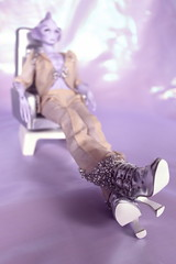 Just Kick Back and Relax (tuneful87) Tags: back outfit chair purple boots alien bjd resin kicking extraterrestrial argo cholo argonautica beigie