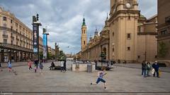 Plaza del Pilar, Zaragoza. (Eugercios) Tags: city cidade urban espaa spain espanha europa europe cityscape ciudad paisagem zaragoza aragon aragn urbanview arago