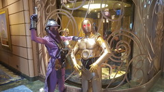 C3PO and Zam Wessell (Steve and his really incredible camera) Tags: sea home gold star costume day dress sam florida disney made human fantasy fancy c3p0 wars cyborg bahamas zam droid c3po skywalker starwaars wessell starwarsdayatsea