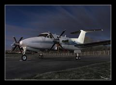 Moonlit XVIP (vaughaag) Tags: photography aircraft sony moonlit nighttime beechcraft kingair a5000 be200 avigeek gxvip xvip
