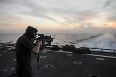 131109-N-TQ272-0850 (markelrayes) Tags: ocean military navy harpersferry marines sailor deployment gunfire lsd49 elrayes